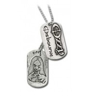 """Ozzy pewter bandhanger """"dogtags"""" van Alchemy"""