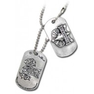 "In Flames pewter bandhanger ""dogtags"" van Alchemy"